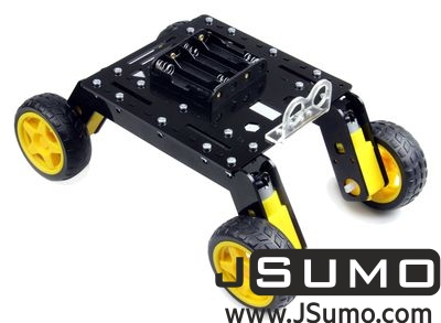 Jsumo - Rover 4WD Explorer Mobile Robot Chassis (Plexiglass Body)