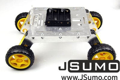 Jsumo - Rover 4WD Explorer Mobile Robot Chassis (Aluminum Body) (1)