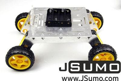 Jsumo - Rover 4WD Explorer Mobile Robot Chassis (Aluminum Body) (1)