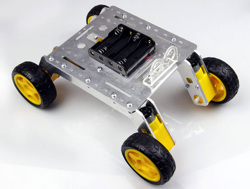 Rover 4WD Explorer Mobile Robot Chassis (Aluminum Body)