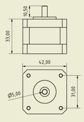 Sanyo Denki Unipolar Nema17 Size Stepper Motor (200 Step) - Thumbnail