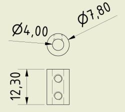 Shaft Coupler 4mm-4mm (Pair) - Thumbnail