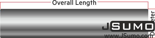 Plain Steel Shaft Ø10mm Diameter 80mm Length