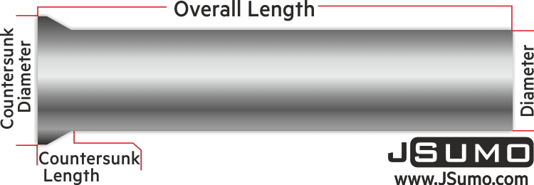 Processed Steel Shaft Ø2.5mm Diameter 81mm Length