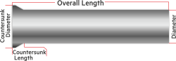 Processed Steel Shaft Ø2.5mm Diameter 81mm Length - Thumbnail