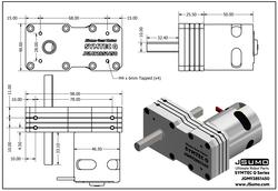 Symtec Q Gearmotor (12V 1450 RPM 9.28:1 44 Kgcm) - Thumbnail