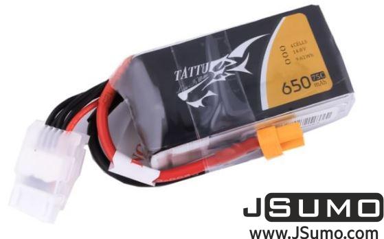 Tattu 14.8V 650 mAh 75C 4S1P Lipo Battery