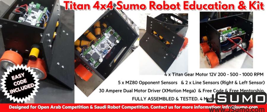 Titan 4x4 JSumo Sumo Robot