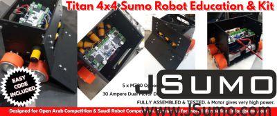 - Titan 4x4 JSumo Sumo Robot