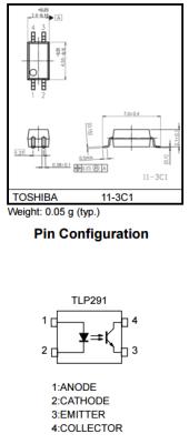 Toshiba - TLP281 1Ch. 4-Soic Optocoupler (1)