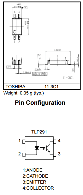 TLP291 1Ch. 4-Soic Optocoupler