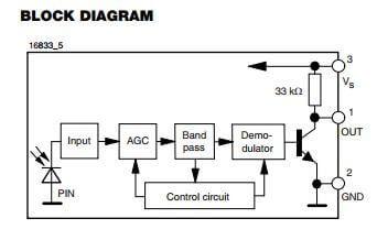 Vishay - TSSP77P38 IR 38Khz Detector (1)