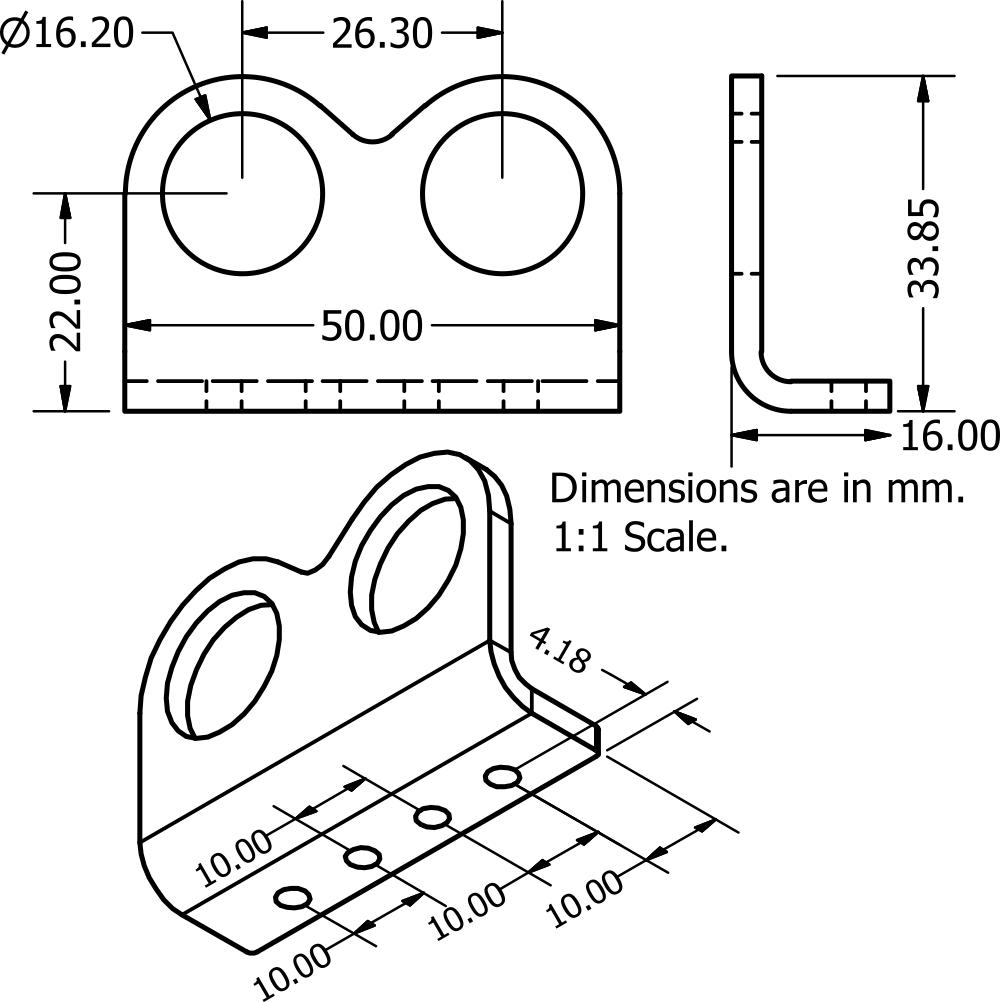 Ultrasonic Sensor Bracket