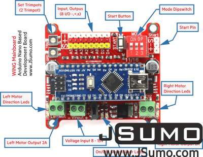 Jsumo - Wing Arduino Nano Robot Controller (Nano Included) (1)