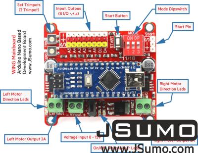 Jsumo - Wing Arduino Nano Robot Controller (Nano Included) (1)